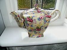 "Royal Winton Grimwades "" Welbeck "" Chintz Ascot Shape TEAPOT - Immaculate 1995"