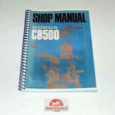 Libro Manual de tienda de taller de fábrica de Honda CB500 500/4 HWM004 SOHC, reproducción.
