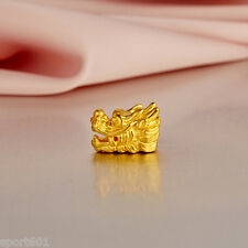 Pure 999 24K Yellow Gold / 3D Dragon Design Pendant or Bracelet