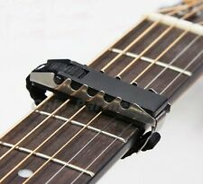 1pc Black Acoustic Guitars Ukulele Capo Gear Silver-Black Guitar Capo