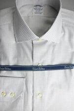 NEW! Brooks Brothers Gray Check Regent Slim Fit Shirt 15.5 - 33 MSRP $185 ~ NWT