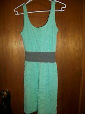 Sassafras Neon Lime Green & Grey Womans Sexy Dress Size Med Made In USA