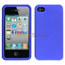 Silicone Soft Slim Rubber Gel Case Cover Skin for Apple iPhone 4 4G 4S Blue
