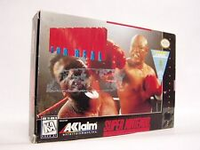 FOREMAN FOR REAL Box only SNES SUPER NINTENDO