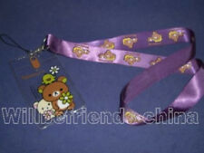 Rilakkuma Relax Bear Mobile Cell Phone ID IC Cover Case Neck Lanyard Strap Charm
