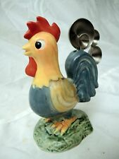 ROOSTER MEASURING SPOON HOLDER WITH 4 METAL SPOONS - CERAMIC