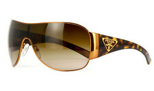 New Authentic PRADA PR 57LS 7OE6S1 Sunglasses Gold Brass Tortoise SPR 57L Rare!