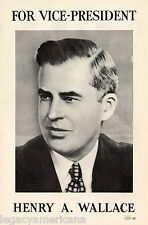 Original 1940 Henry Wallace for Roosevelt VP Campaign Poster (4406)