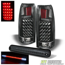94-99 Chevy/GMC C10 C/K Pickup Truck Blk LED Tail Lights +Smoked LED Brake Lamp
