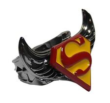 DC Comics SUPERMAN SYMBOL Logo Stainless Steel SPINNING RING - Men's Size 8