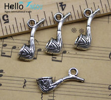 Free Shipping 20pcs Retro Jewelry Making DIY Tobacco Pipe Alloy Charm Pendant