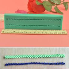 3D Rope Shape Fondant Sugarcraft Silicone Cake Cupcake Mould Baking Tools