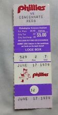 1979 Philadelphia Phillies Vs Reds Ticket Stub 6/17/79