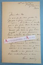 L.A.S Louis MORIN Peintre illustrateur Mortaigne Sainte Lizaine Issoudun lettre