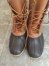 "LL Bean Women's Duck  Thinsolute boots 8"" Tan/Brown Size  8 M No Box"