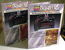 2 NISHIKA 3D CAMERA BROCHURES WITH EXAMPLE PICTURES