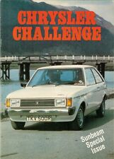 Chrysler Challenge Sunbeam Issue 1977-78 UK Market Sales Brochure