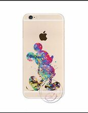 Kissing Mickey Mouse Rainbow Clear Silicone Gel Case For iPhone 6/6s. Xmas