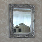 silver ornate wall mirror shabby vintage chic bedroom lounge dining home rococo