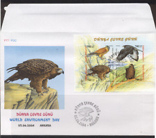 Turkey 2004 Birds/Eagle/Red Kite/Kestrel/Wildlife/Nature 4v m/s FDC (n12677)