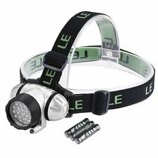 LE Headlamp LED, 4 Modes Headlight, Battery Powered Helmet Light for Camping NEW
