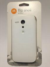 Original Motorola Flip Shell weiß für Moto G NEU+OVP Case Tasche Hülle Schutz