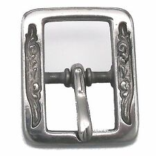 "Al Stohlman Floral Stainless Steel Center Bar Buckle 3/4"" 35210-02 by Tandy"