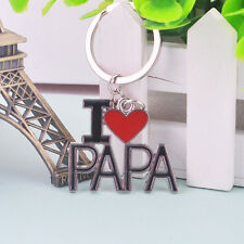 1PC Cute Father's Day Gift I LOVE PAPA Key Chain Ring Car Phone Handbag Pendant