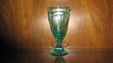 One NORITAKE Sweet Swirl SEA FOAM GREEN Iced Tea Glass Goblets Made 2004 VHTF