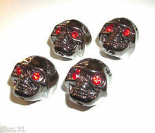 NEW 4 KNOBS METAL SKULL black - bouton pour guitare Gibson, Epiphone,Fender...