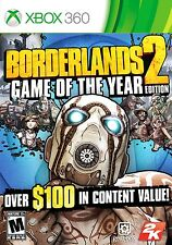 NEW Borderlands 2 Game of the Year GOTY Edition  (Xbox 360, 2012) NTSC