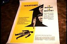 ANATOMY OF A MURDER ORIG MOVIE POSTER 1959 LINEN SAUL BASS PREMINGER CLASSIC