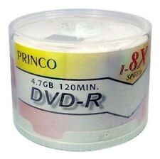 50 Princo 8X White Top DVD-R Blank Disc 4.7GB Free Expedited Shipping