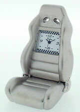 Novelty Miniature Race Seat Clock in Chrome Finish