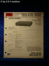 Sony Service Manual SEQ A70 / D707 Graphic Equalizer  (#0882)