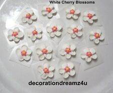 "12 - 3/4"" Sugar Royal Icing Edible Flowers Cake Cupcake Wedding Cherry Blossom"