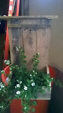 flower box, planter,reclaimed wood, wall hanging, rustic, antique look,handmade
