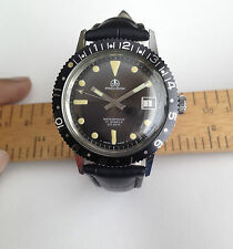 Vintage Swiss Ollech Wajs Watch Precision Submariner Waterproof 17 Jewels 20ATM