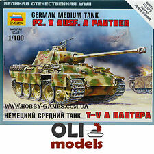 1/100 German Pz.Kpfw.V Ausf.A PANTHER Medium Tank - Art of Tactic - Zvezda 6196