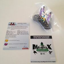 Heroclix DC75th Anniversary set Wonder Twins #059 Super Rare figure w/card!
