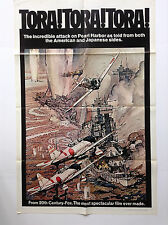 TORA TORA (VF) Orig Movie Poster 1970 One Sheet 1SH Pearl Harbor WWII Navy 2046
