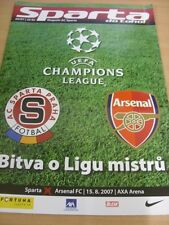 15/08/2007 Sparta Prague v Arsenal [Champions League] . (Any noticable faults wi