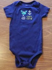 "BABY BOY SIZE 24M CARTER'S SHORT SLEEVE BODY SUIT ""CAPTAIN CUTIE"""