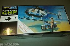 "HASEGAWA  HUGHES 500 ""CHIPS"" AND MOTORBIKE   1:48 scale  kit"