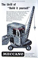 1953 Meccano Construction Sets ADVERT Mobile Crane - Original Print AD