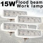 4X 15W White Flood LED Work Light Lamp Car Off road boat Truck Driving 12V 24V