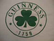 Guinness Liquor Beer Alcohol Whiskey White Graphic Print T Shirt 2XL