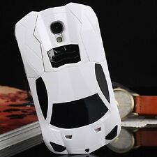 New 3D Luxury Race White Car Hard Case for Samsung Galaxy S4 i9500 Quality Cover