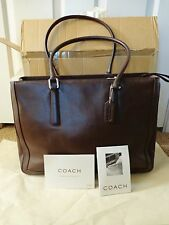 NEW Coach 9426 Brown Leather Double Handle Large Handbag Purse Business Tote BOX