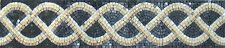 Rope Tile Art Border Skirting Pool Garden Home Marble Mosaic BD461